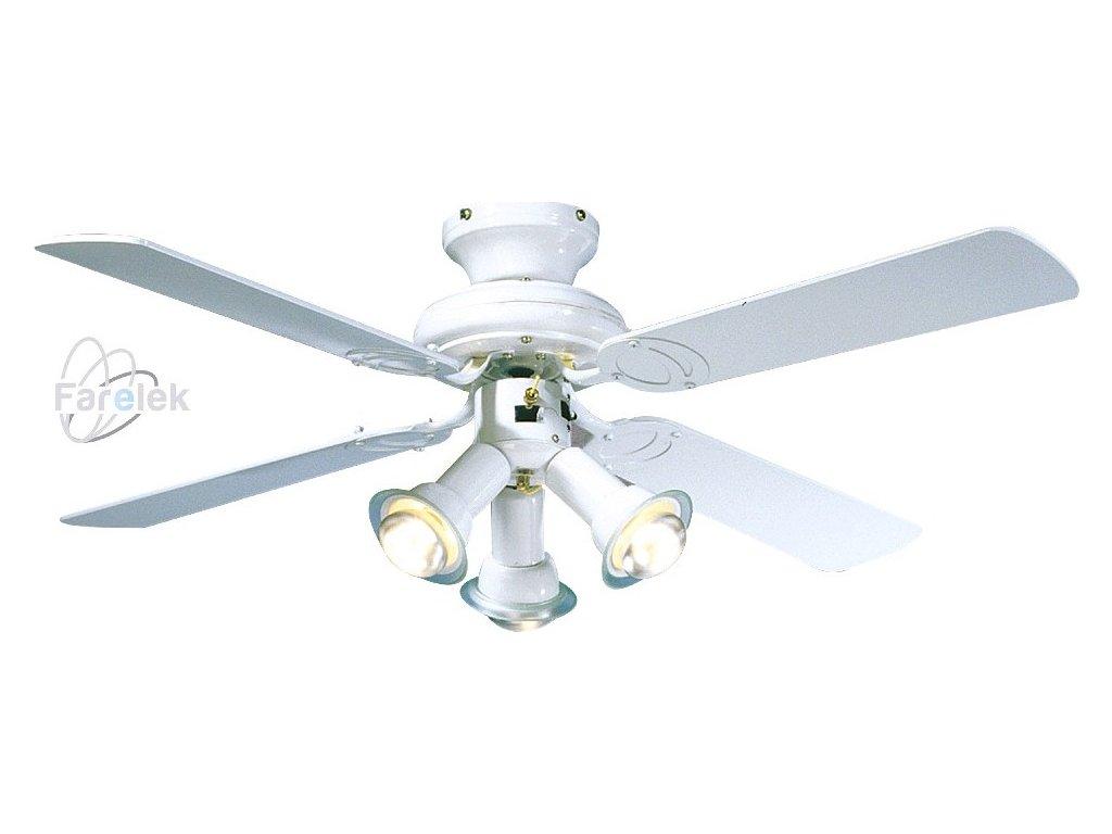 Stropní ventilátor se světlem