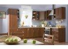 Kuchyňská linka s rámovými dveřmi v barvě calvados/ bílá