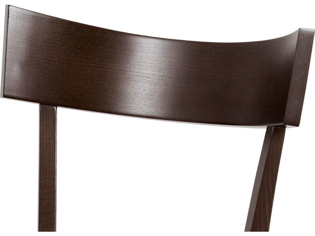 Židle do jídelny, barva ořech, potah krémový