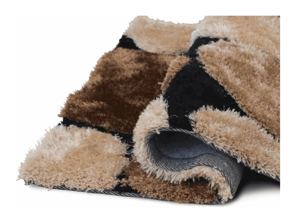Koberec, hnědá / černá, 80x150, PEBBLE TYP 2