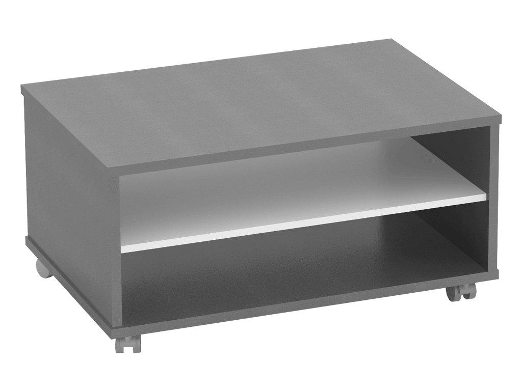Konferenční stolek, grafit / bílá, RIOMA TYP 32