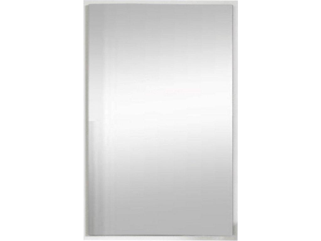 Obdélníkové závěsné zrcadlo s moderním bílým rámem
