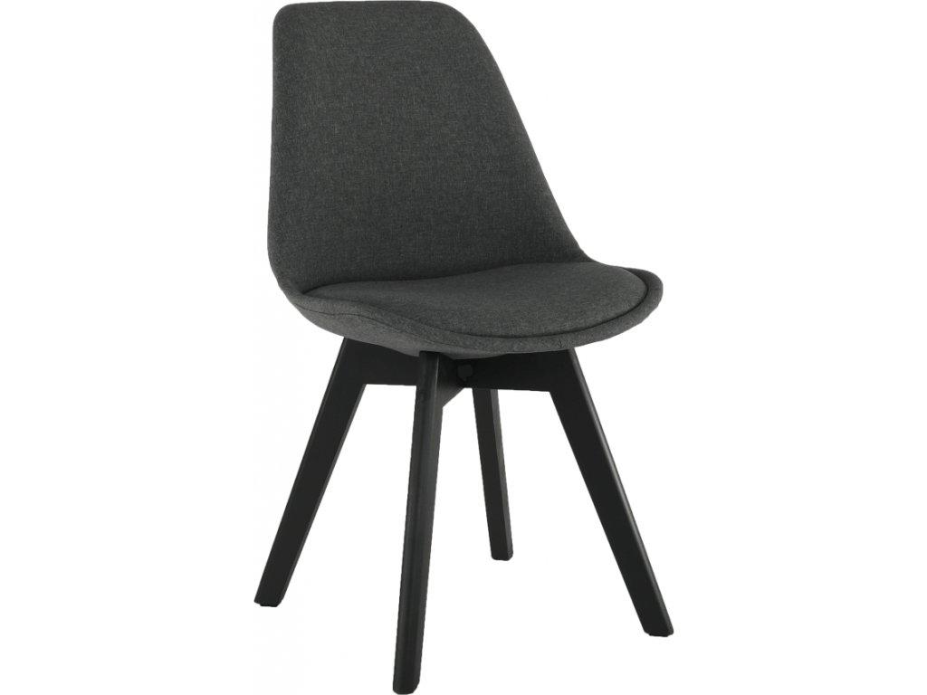 Moderní šedo černá židle s polstrováním