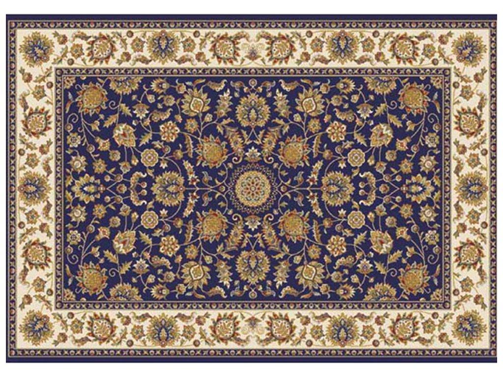 Koberec, tmavě modrá / mix barev / vzor, 100x150, KENDRA TYP 1
