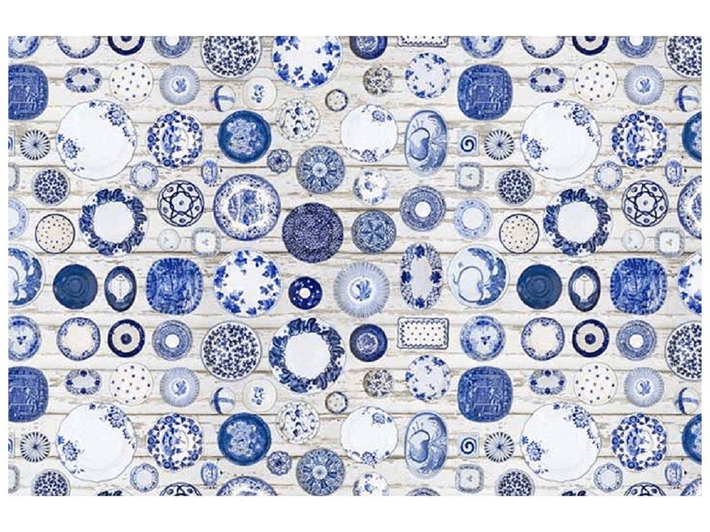 Koberec, modrokrémová, 160x230, PARLIN