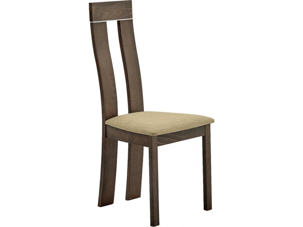 Dřevěná židle, třešeň/Magnolia látka hnédá, DESI