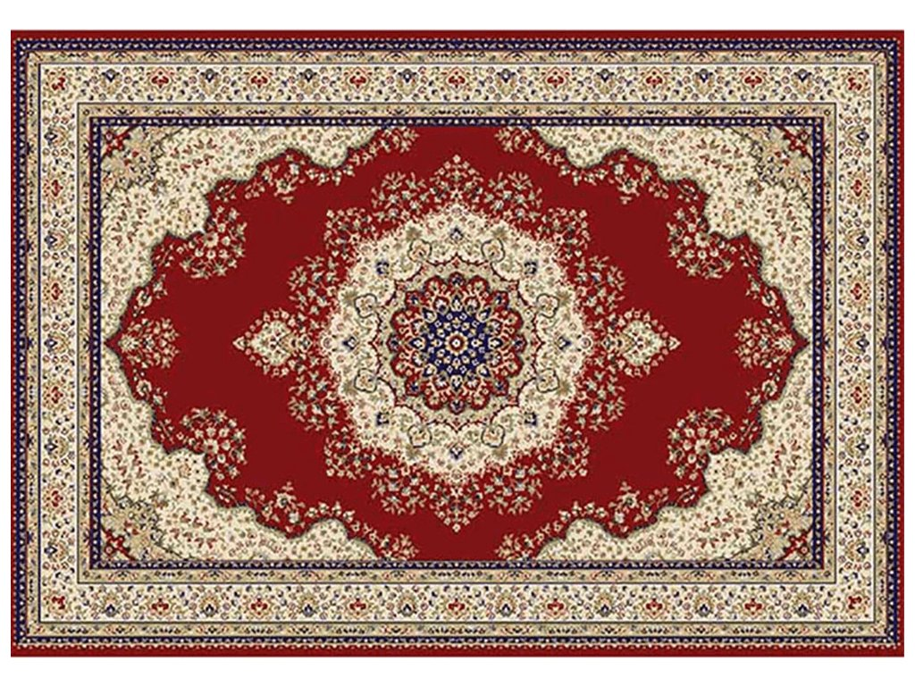 Koberec, vínová / mix barev / vzor, 160x235, KENDRA TYP 3