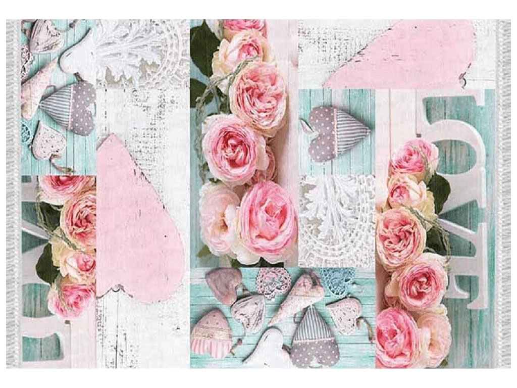 Koberec, vzor růže, 160x230, SONIL TYP 2