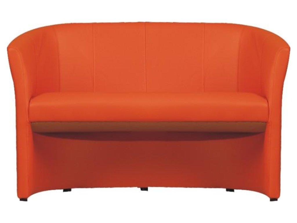 Klubové dvojkřeslo, ekokůže oranžová, CUBA