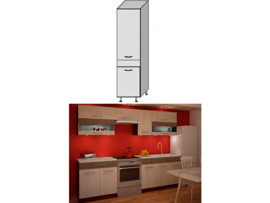 Potravinová skříňka, rigolletto light / rigolletto dark / wenge, JURA NEW IA S-40