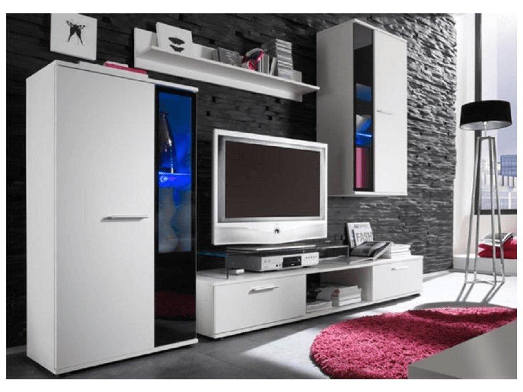 Obývací stěna, bílá, SALESA