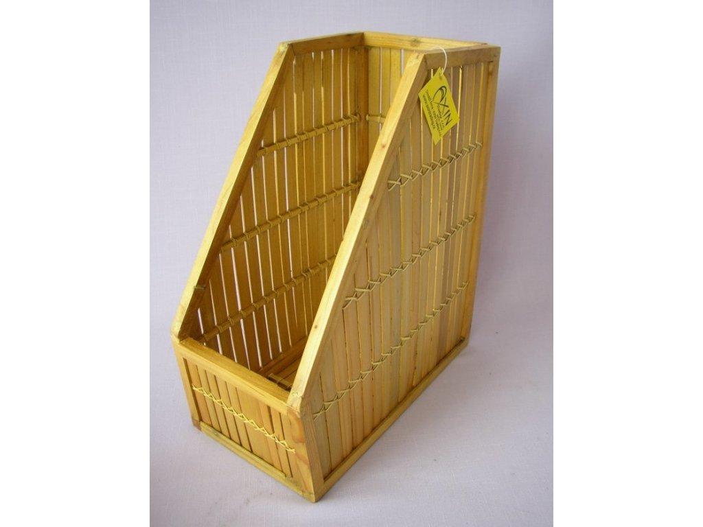 Ratanový pořadač na časopisy, přírodní bambus, hnědý