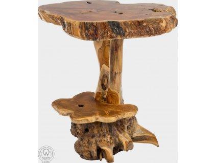 Konfereční stolek z kořene stromu, masiv teak Eleanor