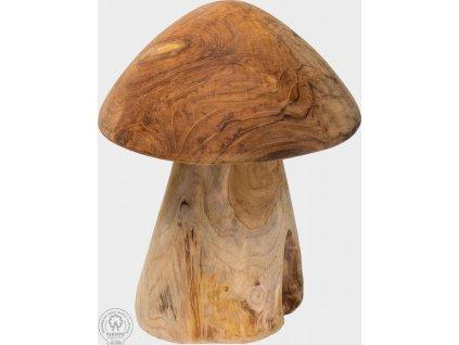 Venkovní dřevěná dekorace houba Cecelia