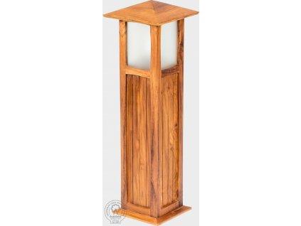 Vysoká dřevaná zahradní lampa z teakového dřeva Desirée