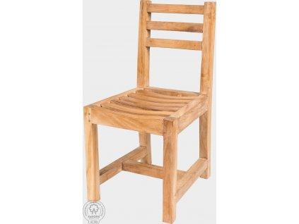 Dětská dřevěná židle z masivního teaku Manuela