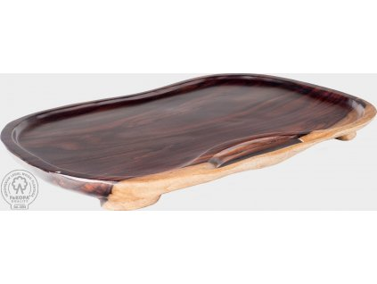 Dřevěný tác hnědý - originální kus Regina