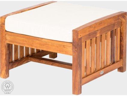 Podnožka z teakového dřeva