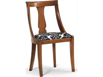 Stylová masivní židle - polstrovaná