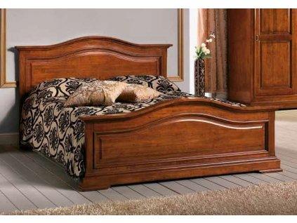 Masivní stylová dvoulůžková postel