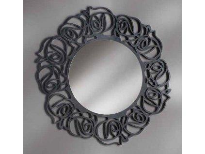 Kulaté zrcadlo, rám v antracitově šedé barvě