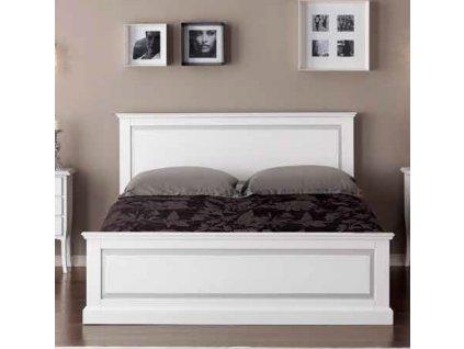 Stylová dvoulůžková postel v bílé barvě