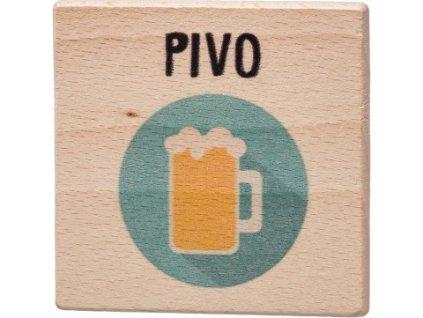 Dřevobox Dřevěný podtácek - Pivo