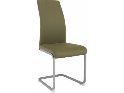 Jídelní židle, olivově zelená/šedá, NOBATA