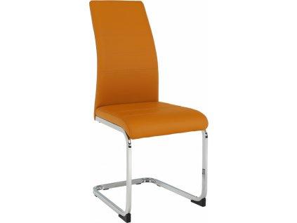 Jídelní židle, hořčicová/chrom, VATENA