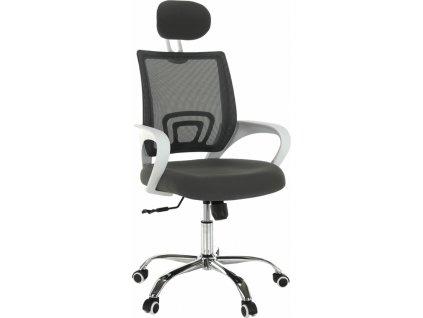 Kancelářské křeslo, šedá/bílá, SANAZ TYP 1