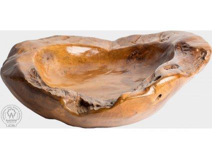 Ručně vyrobená dřevěná miska Dominika