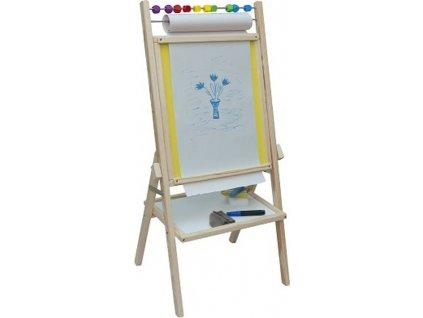 Dětská oboustranná magnetická tabule žlutá