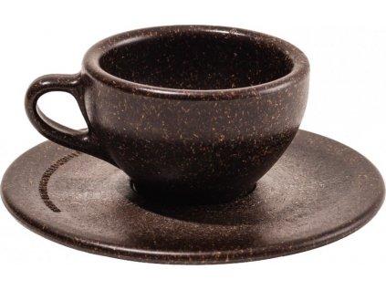 Šálek s podšálkem na espresso z recyklované kávy - Kaffeeform
