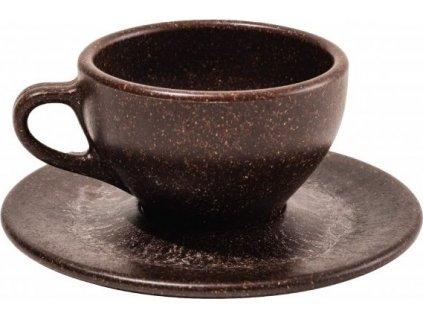 Šálek s podšálkem na capuccino z recyklované kávy - Kaffeeform