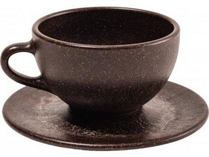 Šálek s podšálkem na latte z recyklované kávy - Kaffeeform