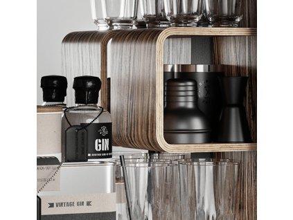 Koupelnová skříňka / kanistr - Bathroom Cabinet, Racing Green, 6 variant - Danish Fuel Varianta: Zebrano