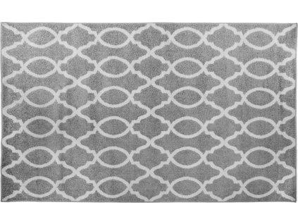 Koberec, světlešedá / slonovinová, 100x150, DESTA