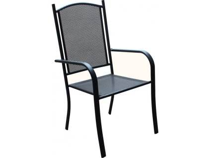 Moderní černá židle velmi stabilní, designová, mřížková úprava