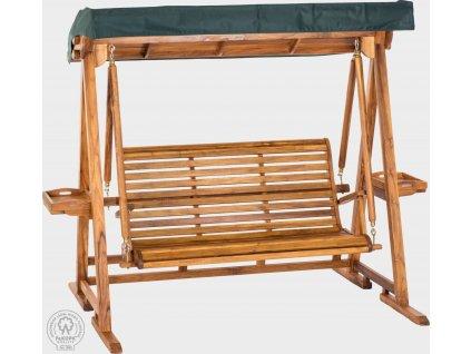 Masivní zahradní houpací lavice z teakového dřeva Zoe