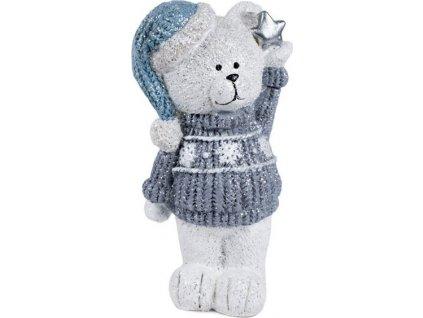 Medvídek, dekorace z polyresinu