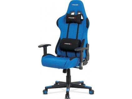 Kancelářská židle, modrá látka, houpací mech., plastový kříž