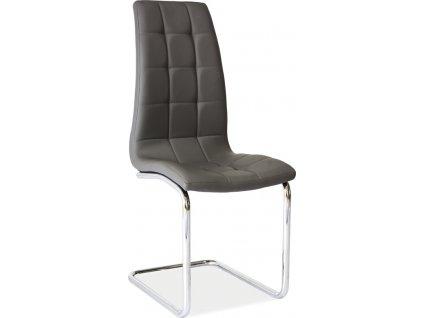 Jídelní čalouněná židle H-103 šedá