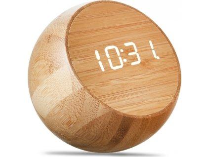 "Budík ""Tumbler Click Clock"", bambus - Gingko"