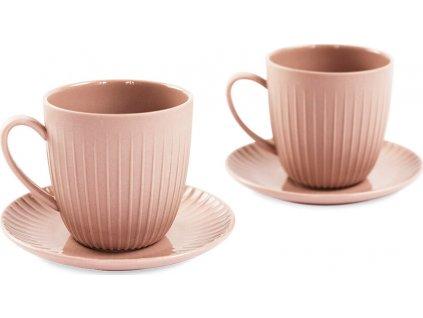 Porcelánový set 2 šálků na espresso, 110 ml, růžová - WD Lifestyle