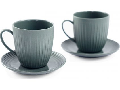 Porcelánový set 2 šálků na espresso, 110 ml, šedá - WD Lifestyle