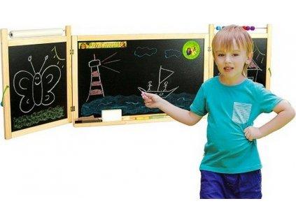 Dětská skládací tabule na stěnu
