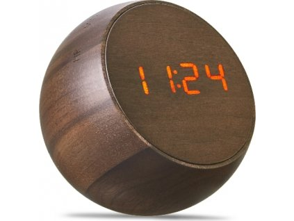 "Budík ""Tumbler Click Clock"", ořech - Gingko"