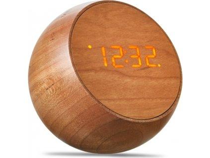 "Budík ""Tumbler Click Clock"", třešeň - Gingko"