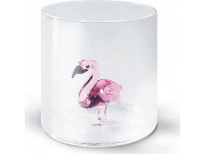Sklenice z borosilikátového skla s dekorací plameňáka - WD Lifestyle