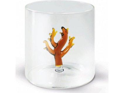 Sklenice z borosilikátového skla s dekorací korálu - WD Lifestyle